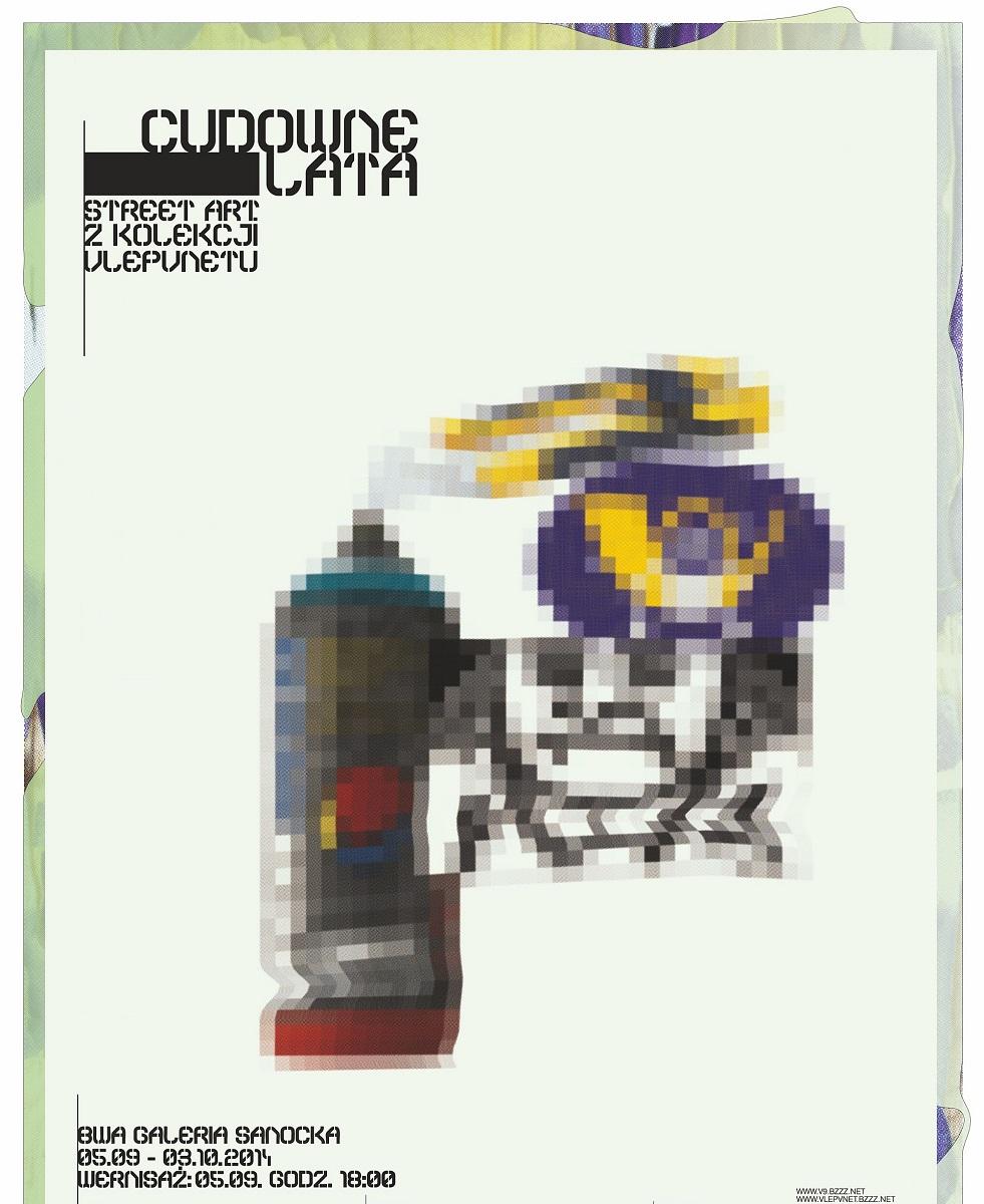 """Wystawa """"Cudowne lata"""", BWA Galeria Sanocka, plakat (źródło: materiały prasowe organizatora)"""