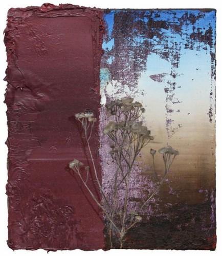 """Cyryl Polaczek, """"Chwast"""", olej na płótnie, 35x30 cm, 2014 (źródło: materiały prasowe organizatora)"""