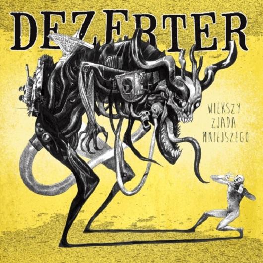 """Cover albumu """"Większy zjada mniejszego"""", (źródło: materiały prasowe organizatora)"""