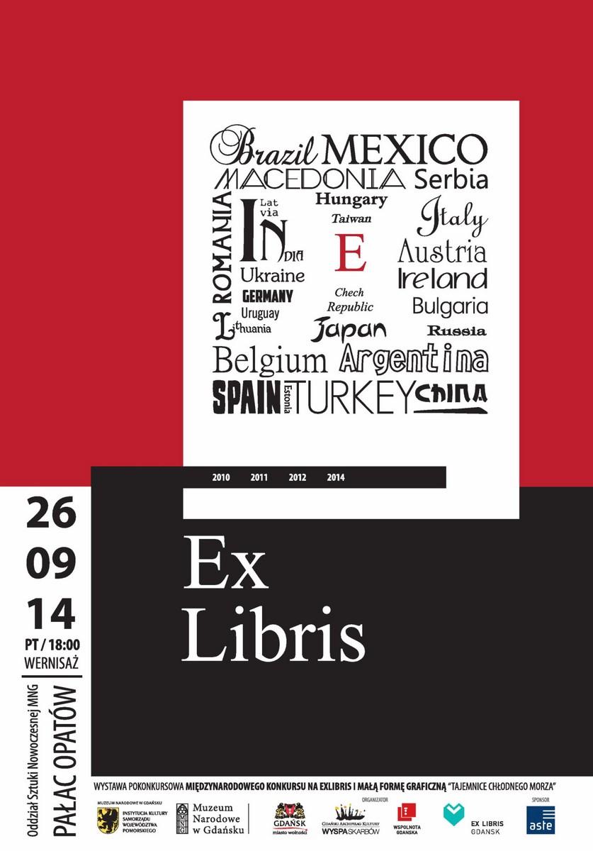 """""""Ex Libris"""", plakat, Gdański Archipelag Kultury Wyspa Skarbów, Fundacja Wspólnota Gdańska (źródło: materiały prasowe organizatora)"""