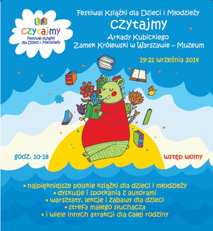 """Festiwal Książki dla Dzieci i Młodzieży """"Czytajmy"""", plakat (źródło: materiały prasowe)"""