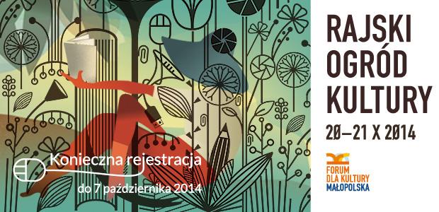 """""""Forum dla Kultury. Małopolska: Rajski Ogród Kultury"""" – logotyp (źródło: materiały prasowe)"""