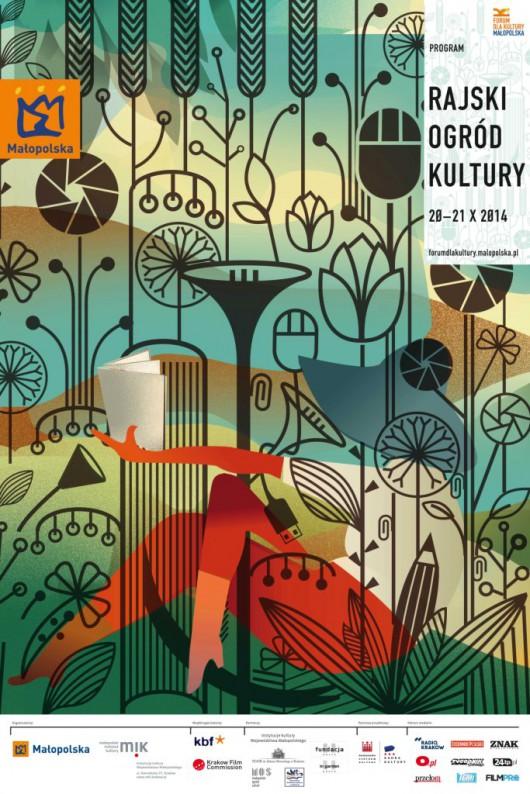 """""""Forum dla Kultury. Małopolska: Rajski Ogród Kultury"""" – plakat (źródło: materiały prasowe)"""