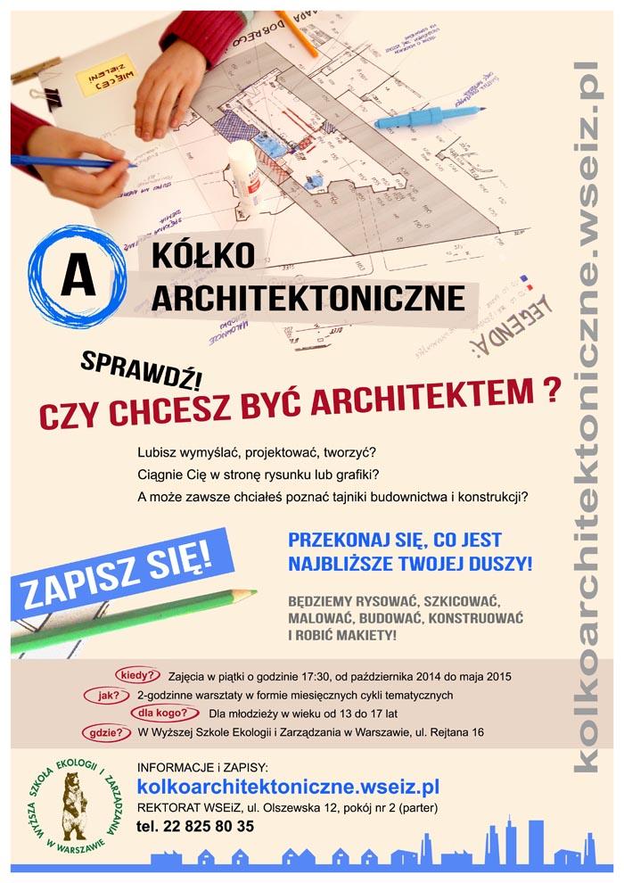 Kółko architektoniczne Sprawdź, czy chcesz być architektem (źródło: materiały prasowe organizatora)
