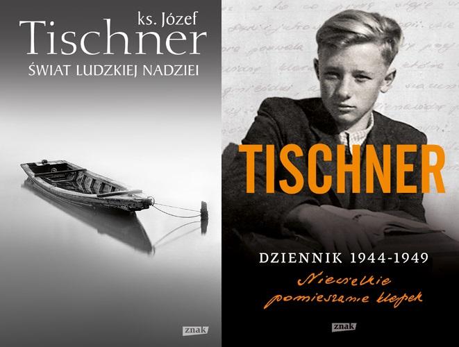 """Ks. Józef Tischner """"Świat ludzkiej nadziei"""", """"Dziennik 1944–1949. Niewielkie pomieszanie klepek"""" – okładki (źródło: materiały prasowe)"""