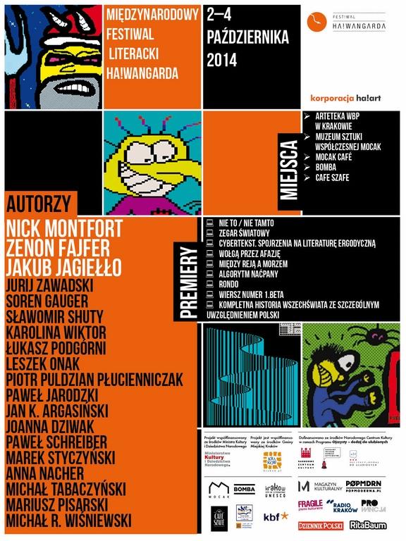 Międzynarodowy Festiwal Literacki Ha!wangarda, logo (źródło: materiały prasowe organizatora)