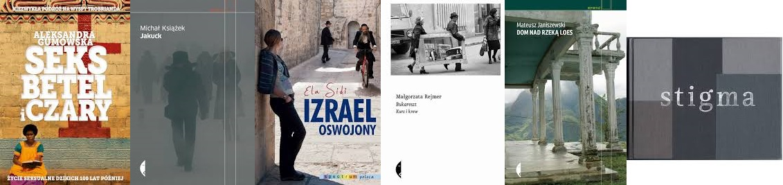 Nagroda im. Beaty Pawlak – okładki nominowanych książek (źródło: materiały prasowe)