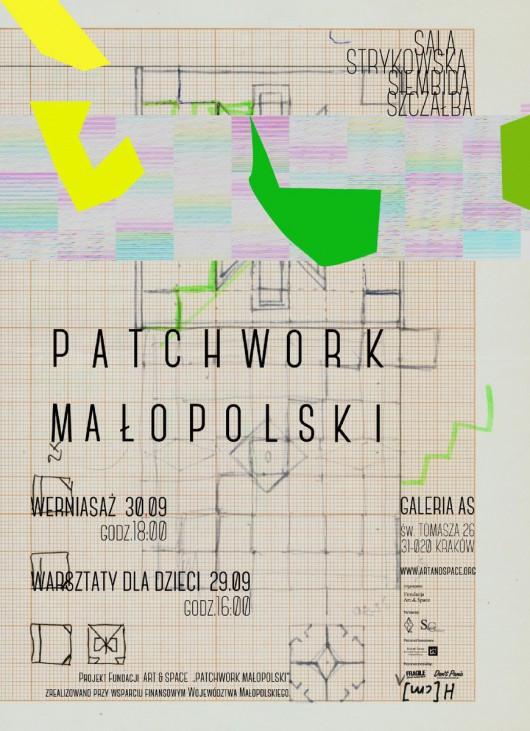 """Wystawa """"Patchwork małopolski"""", Galeria As w Krakowie, plakat (źródło: materiały prasowe organizatora)"""