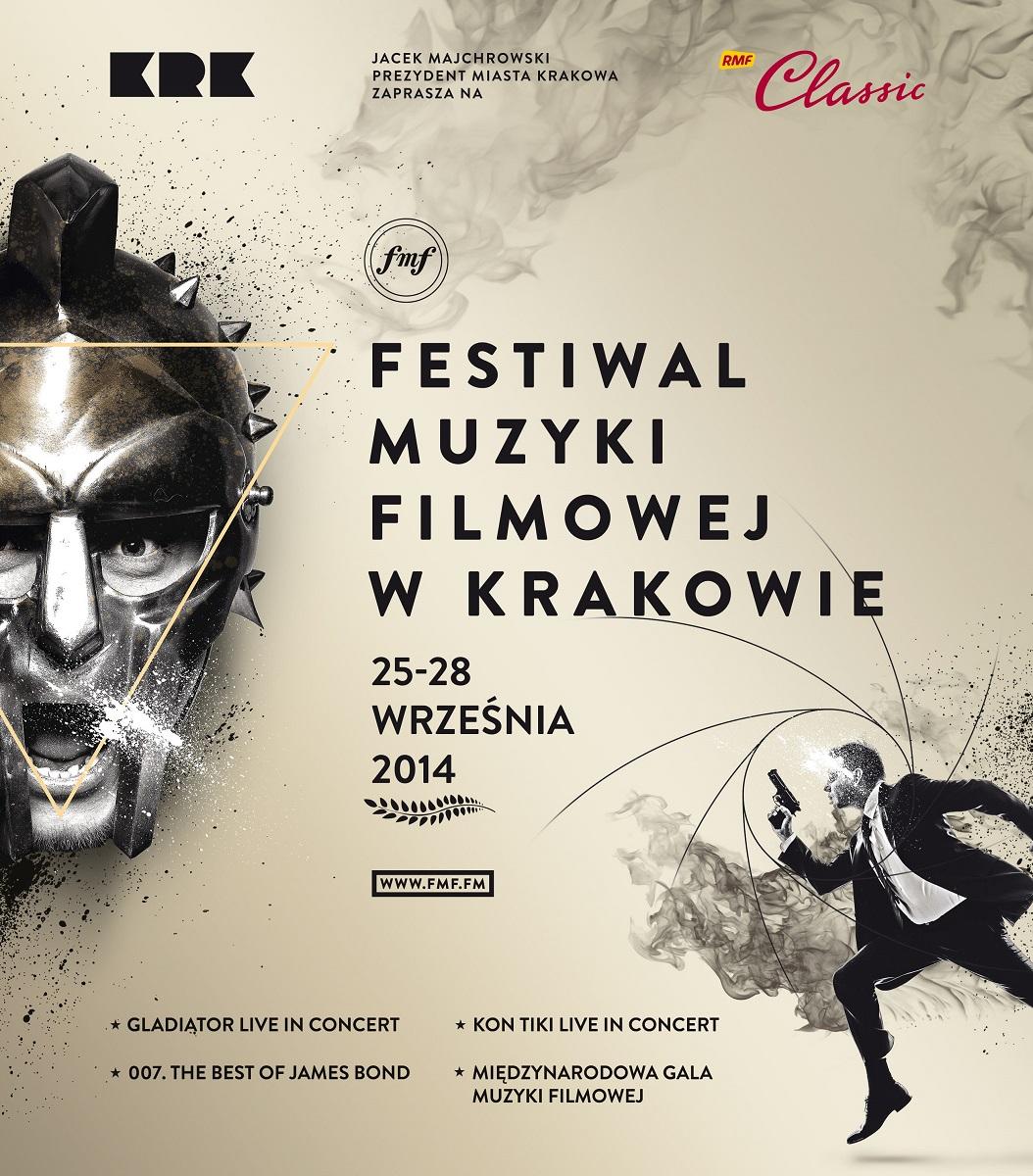 Plakat Festiwalu Muzyki Filmowej w Krakowie, (źródło: materiały prasowe organizatora)