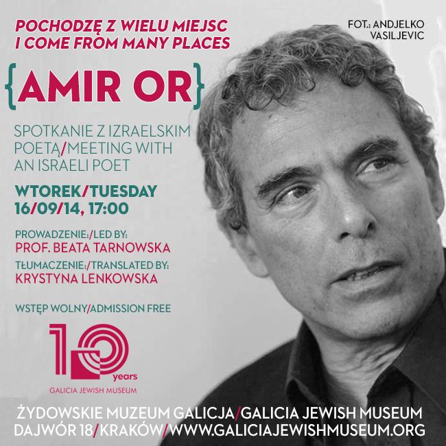 """""""Pochodzę z wielu miejsc"""" – spotkanie z Amirem Orem (źródło: materiały prasowe)"""