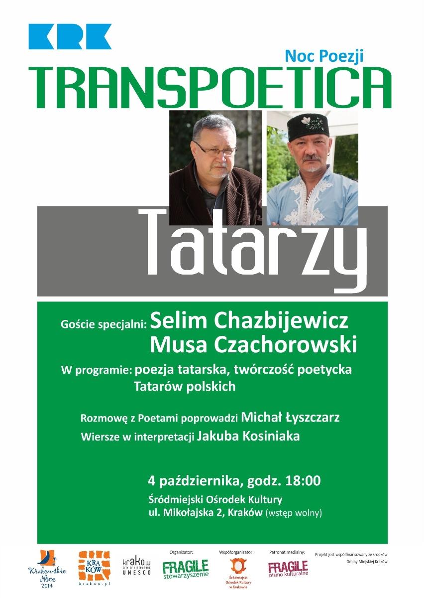 """""""Transpoetica: Tatarzy"""" – plakat (źródło: materiały prasowe)"""