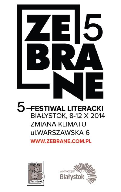 5. Festiwal Literacki Zebrane, plakat (źródło: materiały prasowe organizatora)