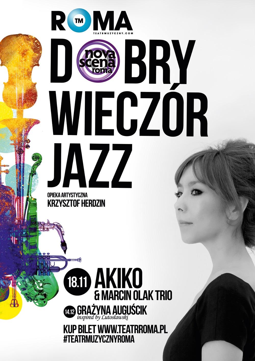 Koncert Akiko, plakat (źródło: materiały prasowe organizatora)