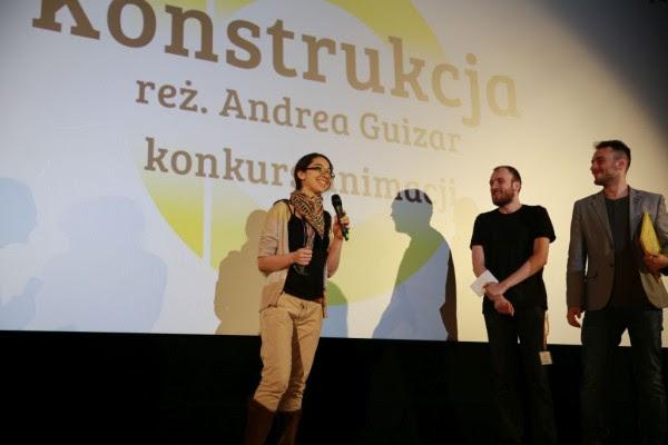 Andrea Guizar podczas rozdania nagród 5. Festiwalu Kamera Akcja, (źródło: materiały prasowe organizatora)