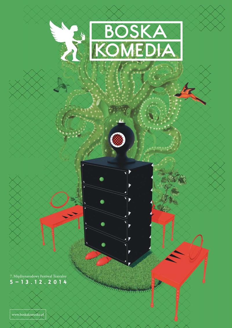 7, Międzynarodowy Festiwal Teatralny Boska Komedia, plakat (źródło: materiały prasowe organizatora)