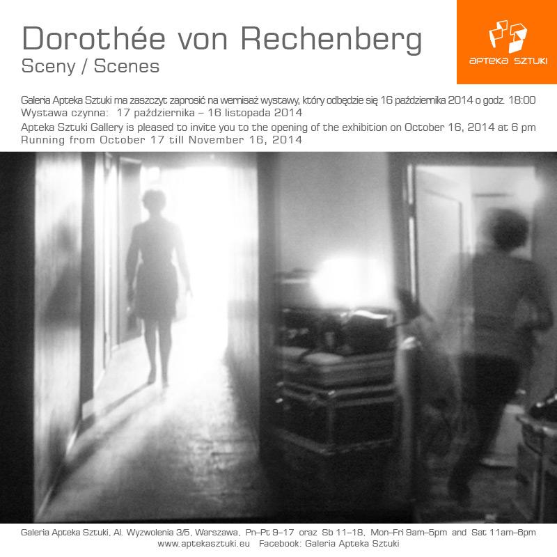 """Dorothee von Rechenberg, """"Sceny"""", Galeria Apteka Sztuki w Warszawa, zaproszenie (źródło: materiały prasowe organizatora)"""