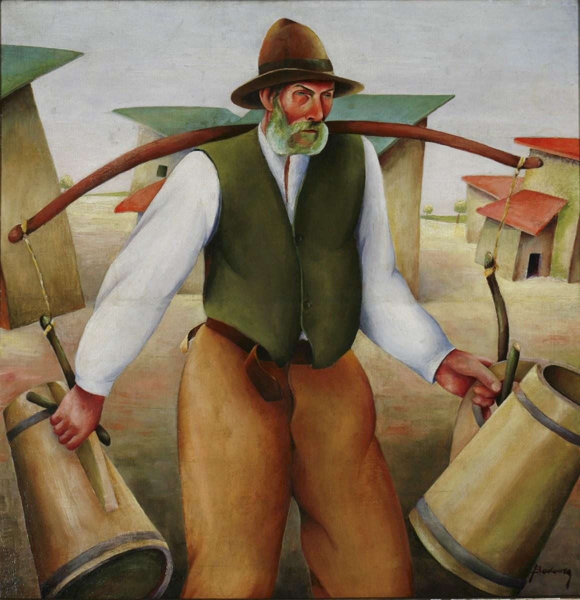 """Józef Badower, """"Nosiwoda"""", niedatowany, 80 x 79 cm, olej, płótno (źródło: materiały prasowe organizatora)"""