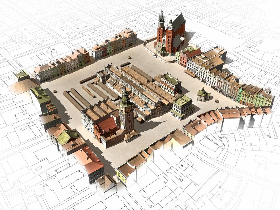 Kraków: czwarta perspektywa końca XVIII wieku (źródło: materiały prasowe MHK)