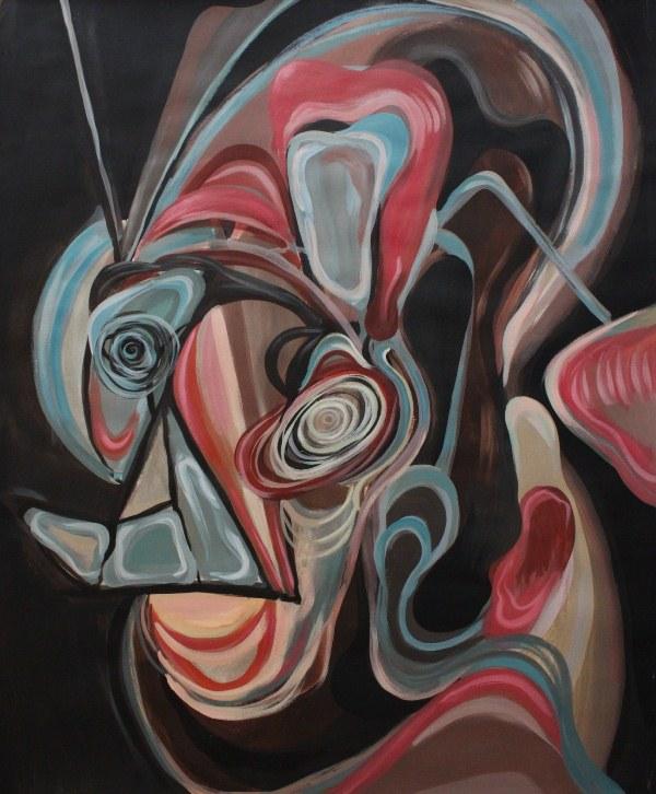 """Michał Chudzicki, z serii """"Poltergeist"""", 2014, gwasz na papierze, 60x50 cm (źródło: materiały prasowe organizatora)"""