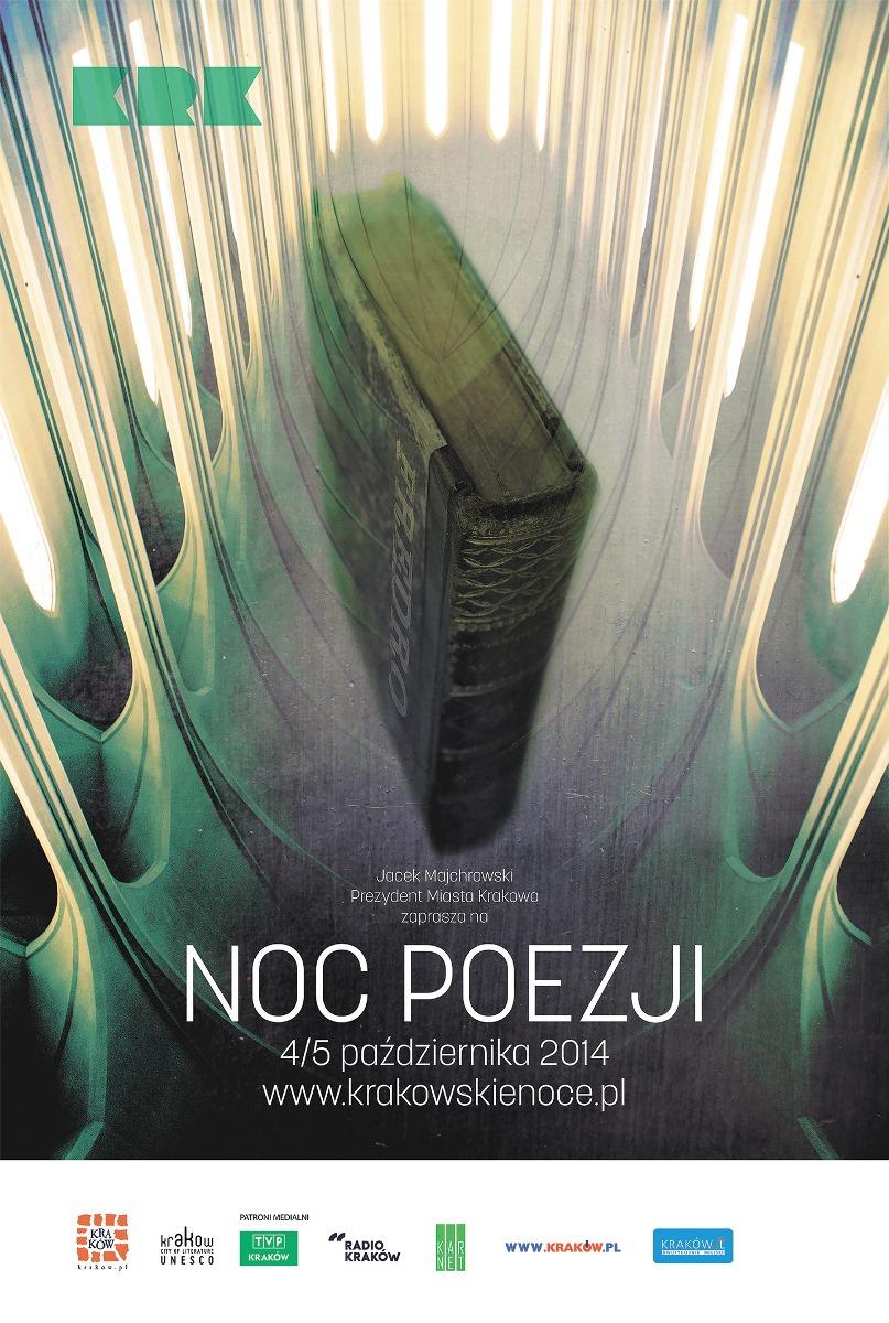 Noc Poezji w Krakowie – plakat (źródło: materiały prasowe)