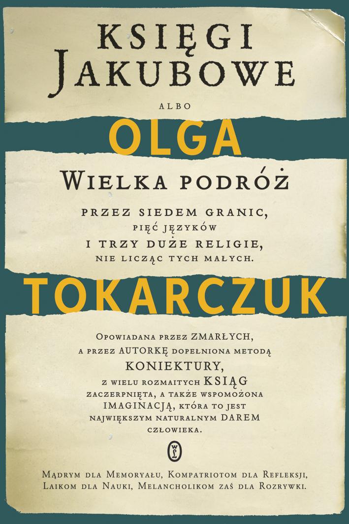 """Olga Tokarczuk – """"Księgi Jakubowe"""", okładka (źródło: materiały prasowe)"""