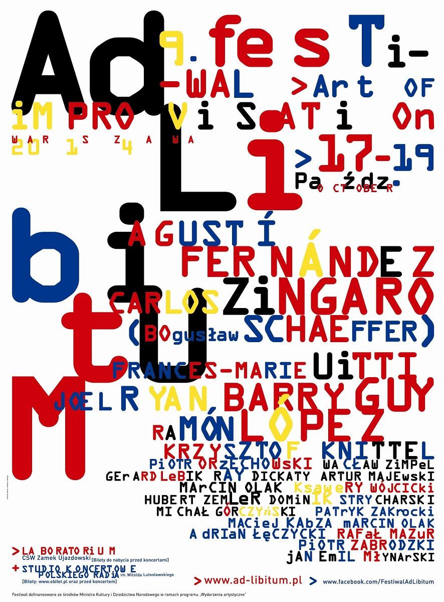 """Plakat 9. Festiwalu Muzyki Improwizowanej """"Ad libitum"""", (źródło: materiały prasowe organizatora)"""
