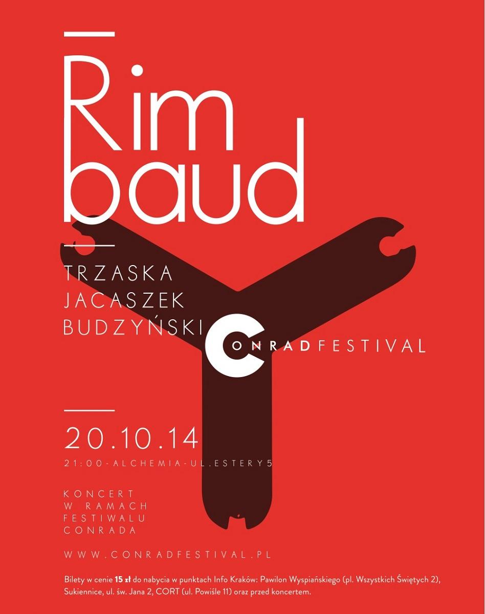 Plakat koncertu projektu Rimbaud, (źródło: materiały prasowe organizatora)