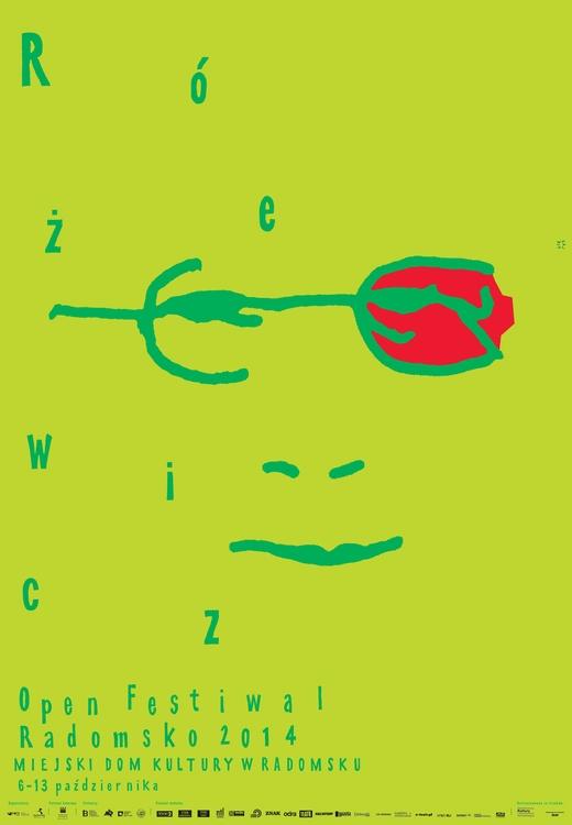 Różewicz Open Festiwal Radomsko, plakat (źródło: materiały prasowe organizatora)
