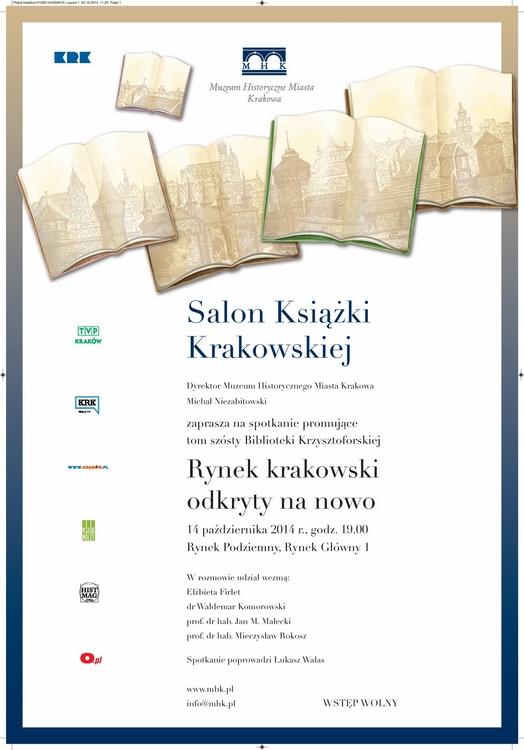 Salon Książki Krakowskiej, plakat (źródło: materiały prasowe organizatora)