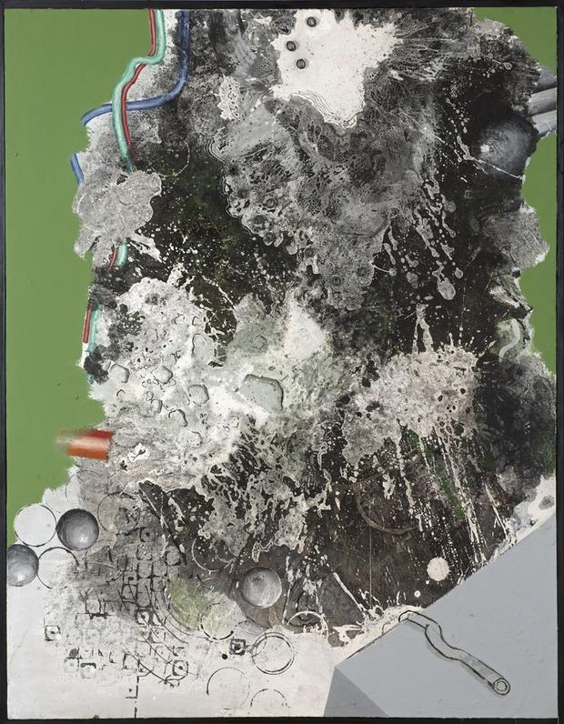 Tadeusz Baranowski, Bez tytułu, n.d., technika własna, 170x131x1 cm, fot. Radosław Jóźwiak (źródło: materiały prasowe organizatora)