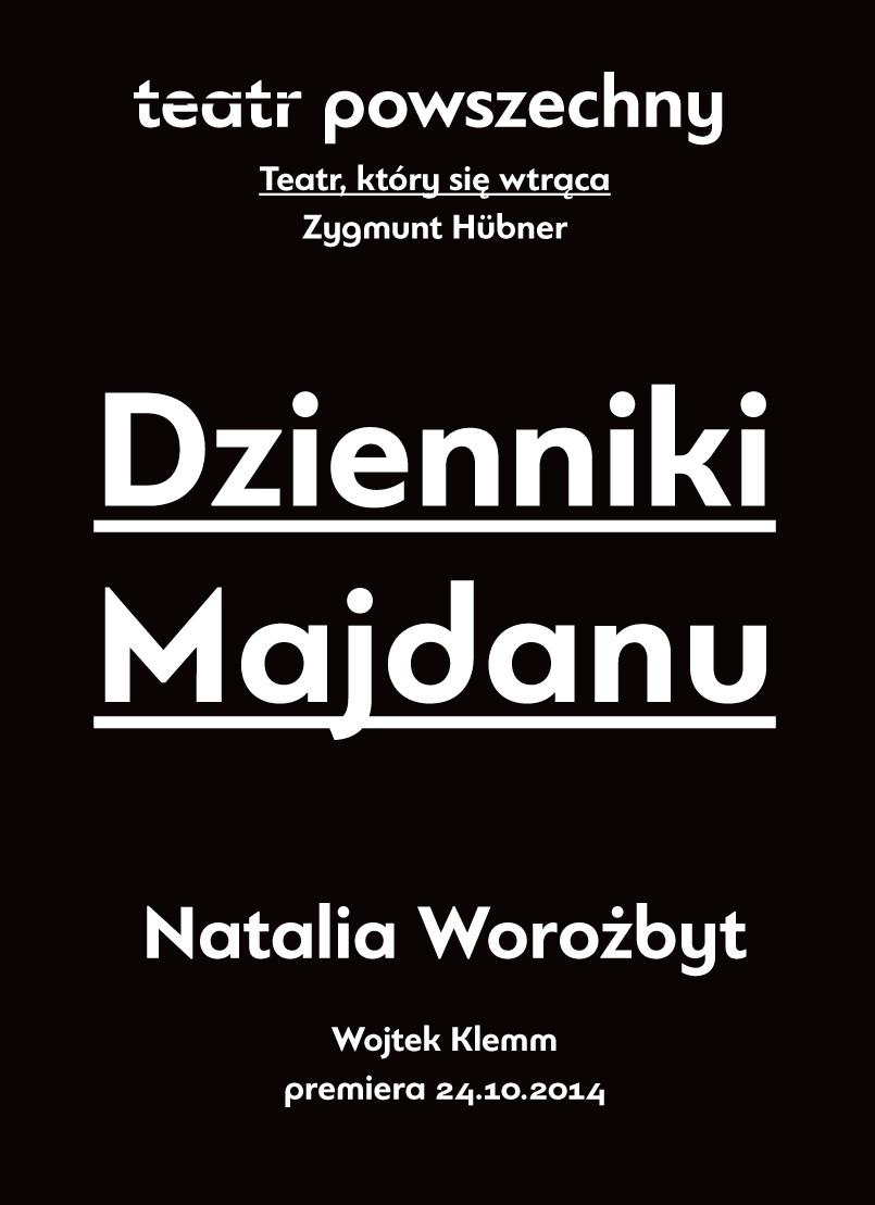 """""""Dzienniki Majdanu"""", plakat (źródło: materiały prasowe organizatora)"""