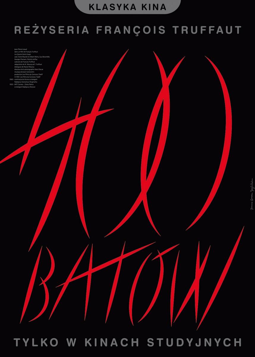"""""""400 batów"""" reż. Francois Truffaut – plakat (źródło: materiały prasowe dystrybutora)"""