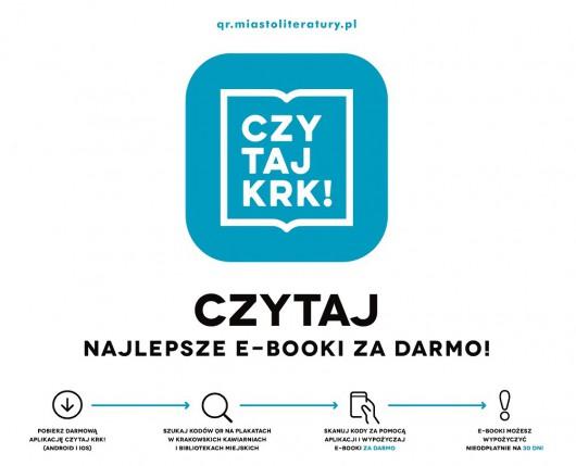 """""""Czytaj KRK!"""" – logo (źródło: materiały prasowe)"""