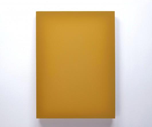"""Daniel Cybulski, """"Kolor"""", lakier syntetyczny, płótno, 70x50, 2014 (źródło: materiały prasowe organizatora)"""