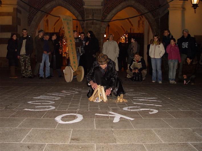 """Jerzy Bereś, """"Manifestacja Romantyczna"""", 2008 (źródło: materiały prasowe organizatora)"""