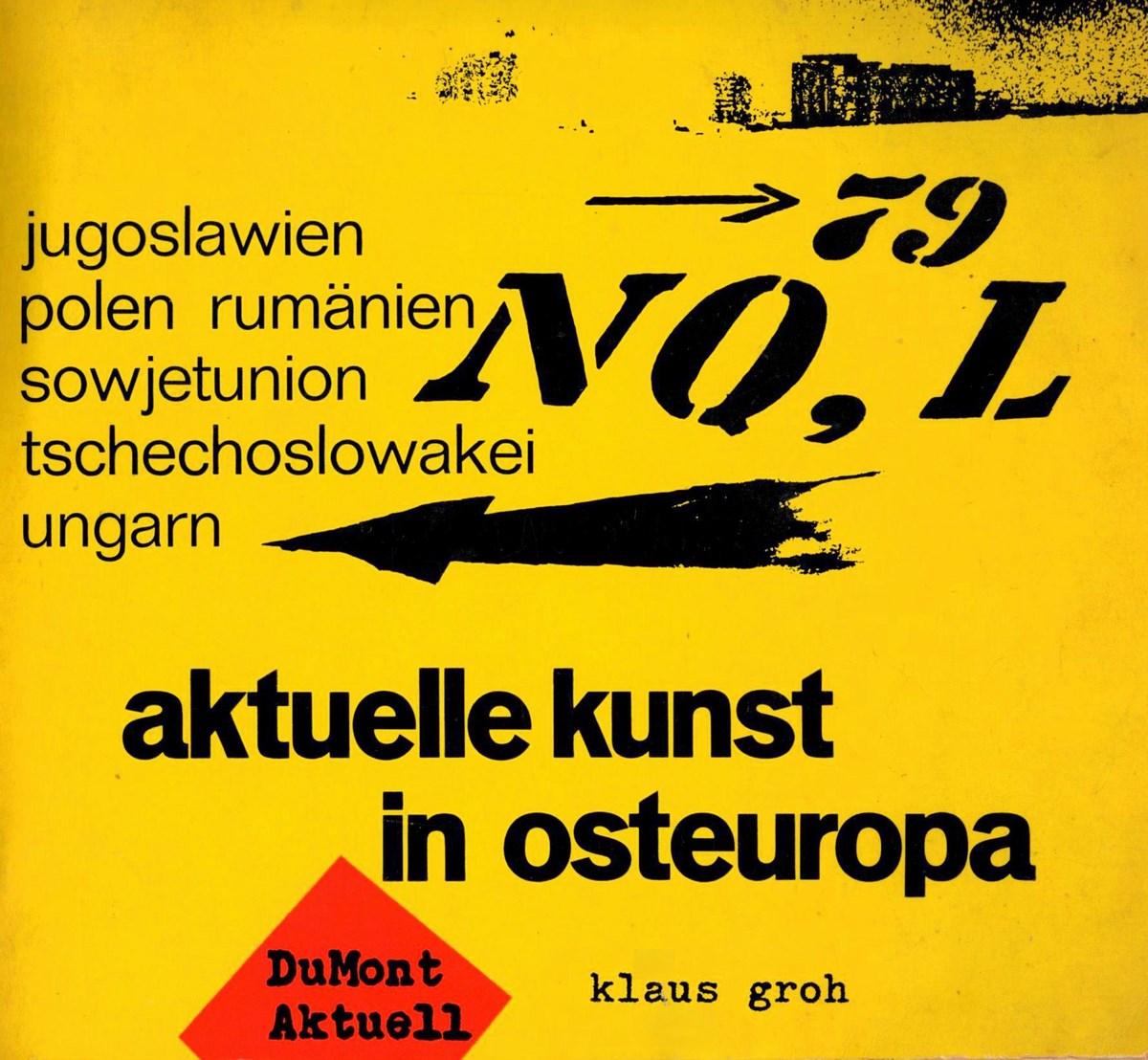 """Klaus Groh, """"Aktuelle Kunst in Osteuropa"""", okładka książki (źródło: materiały prasowe organizatora)"""