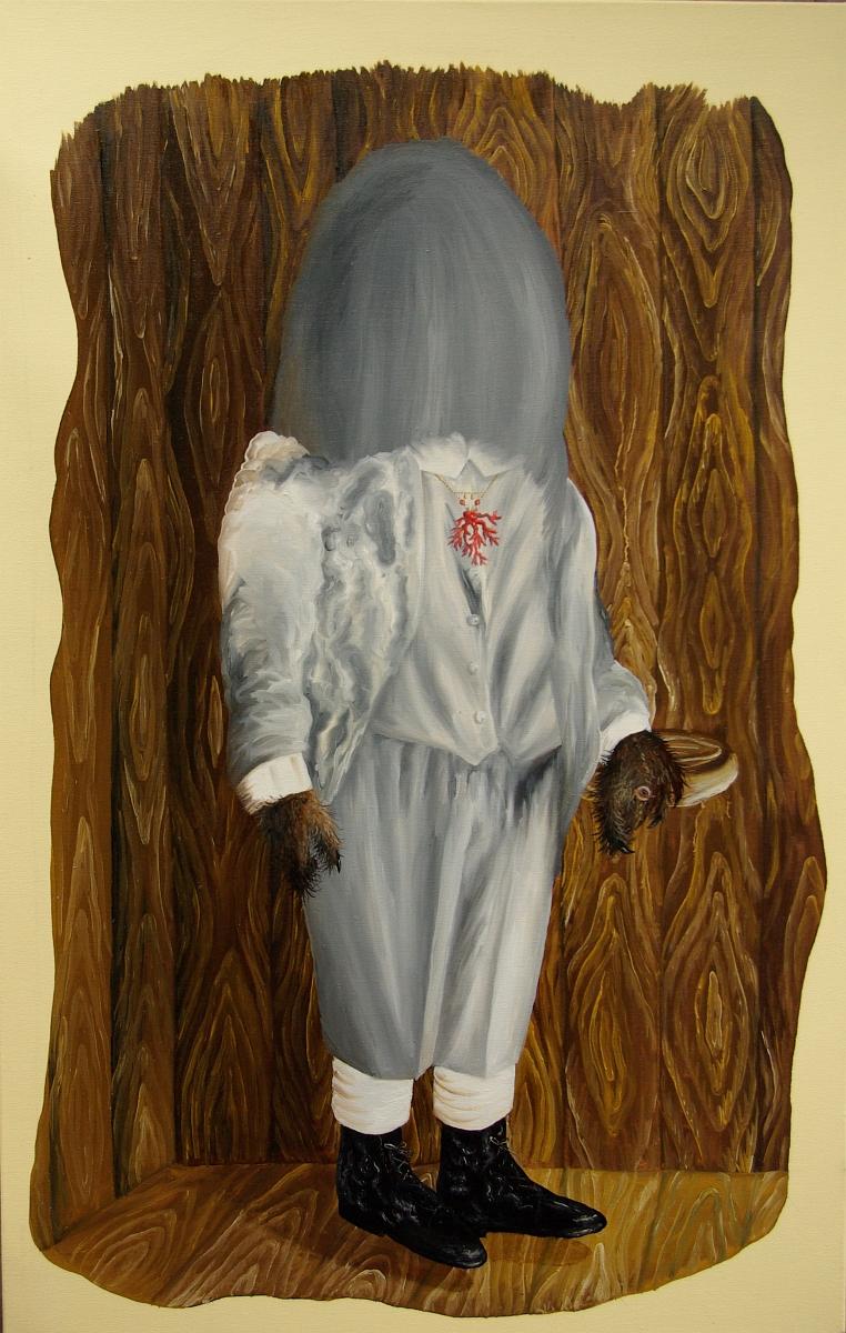 """Małgorzata Wielek-Mandrela, """"Chu, chu, chu w kąciku"""", 110x70 cm, 2014 (źródło: materiały prasowe organizatora)"""