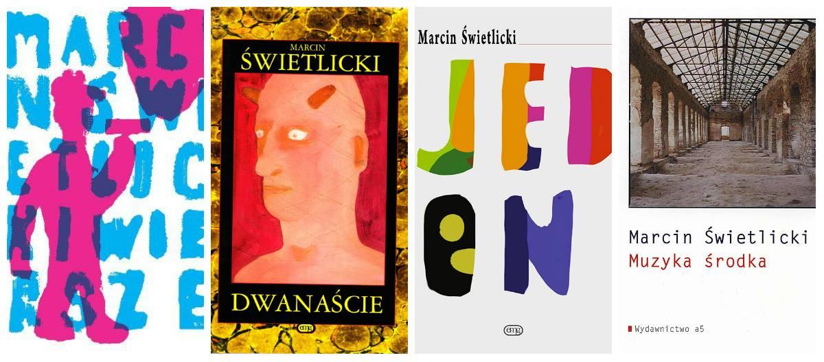 Marcin Świetlicki – okładki tomów poezji (źródło: materiały prasowe)