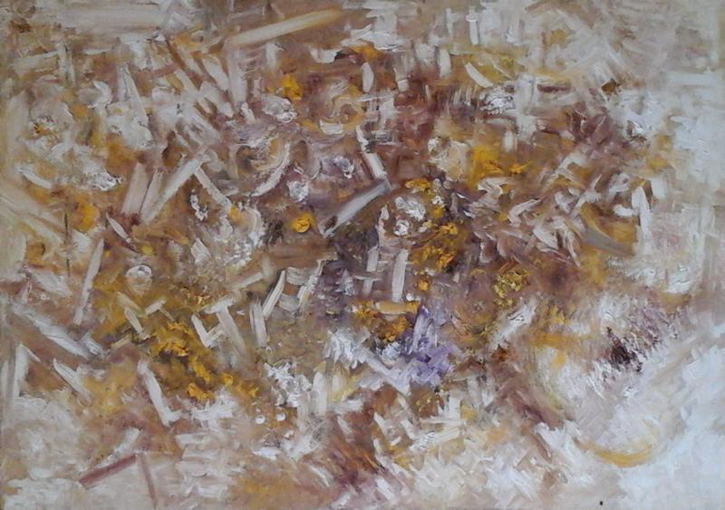 Michał Rutkowski, Bez tytułu, olej na tekturze naklejonej na drewno, 70x100 cm, 2010 (źródło: materiały prasowe organizatora)