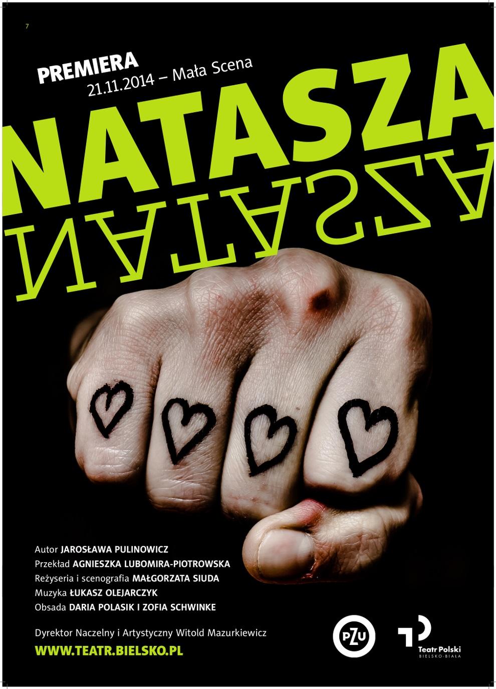 """""""Natasza"""" – premiera spektaklu, plakat (źródło: materiały prasowe organizatora)"""