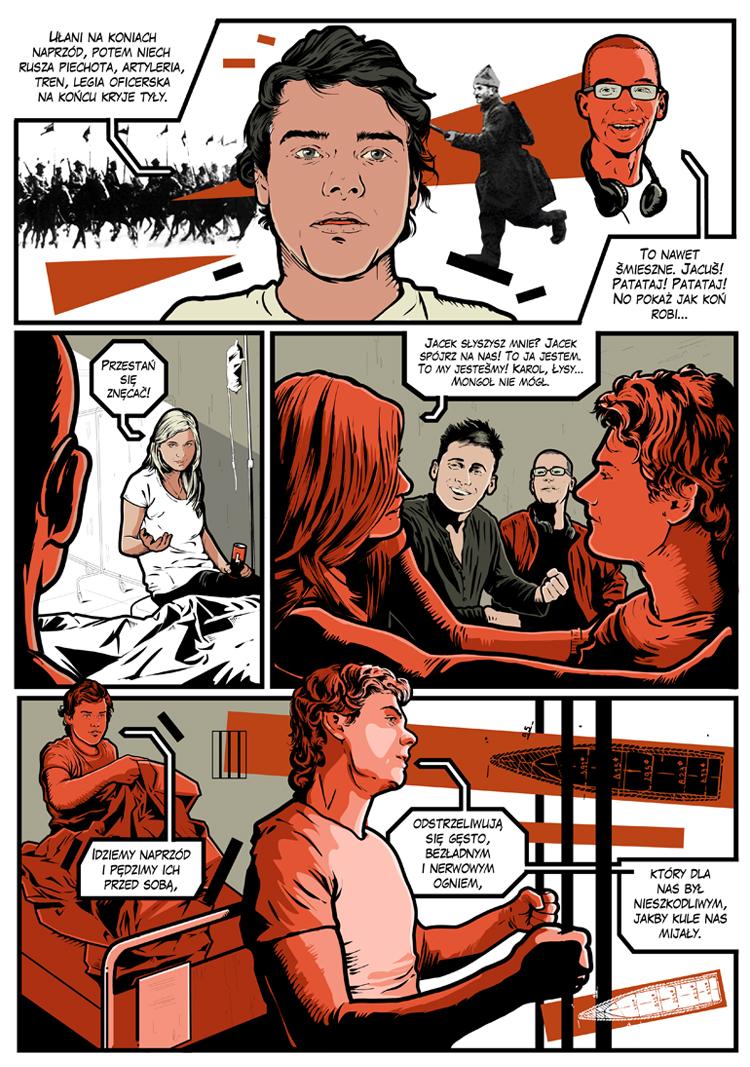 """Multimedialny Komiks Interaktywny """"Odpamiętani"""" – plansza (źródło: materiały prasowe)"""
