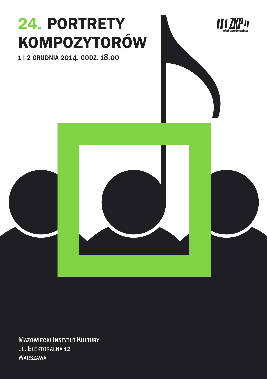 24. Portrety Kompozytorów, plakat (źródło: materiały prasowe organizatora)