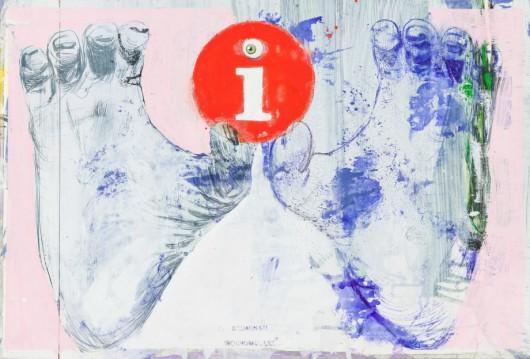 """Radek Szlaga, """"I"""", 42,5x62,5 cm, 2013 (źródło: materiały prasowe Czytelni Sztuki w Gliwicach)"""