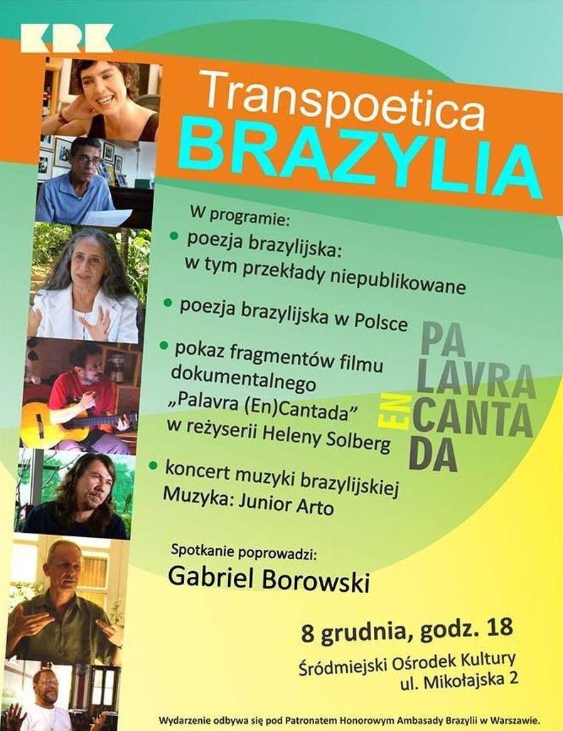 """""""Transpoetica: Brazylia"""", plakat (źródło: materiały prasowe)"""