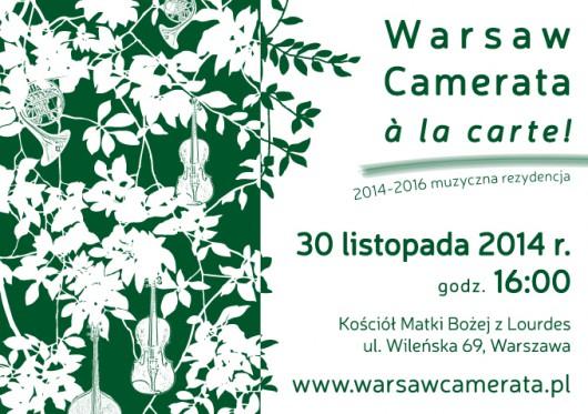 """Warsaw Camerata à la carte!"" – plakat (źródło: materiały prasowe organizatora)"