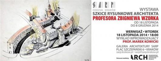 Szkice rysunkowe architekta, Profesora Zbigniewa Wzorka (źródło: materiały prasowe organizatora)