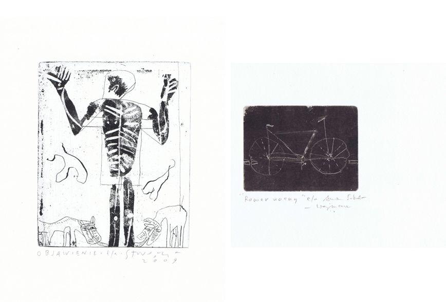 """Stanisław Wejman, """"Objawienie""""; Anna Sobol-Wejman, """"Rower nocny"""" (źródło: materiały prasowe)"""
