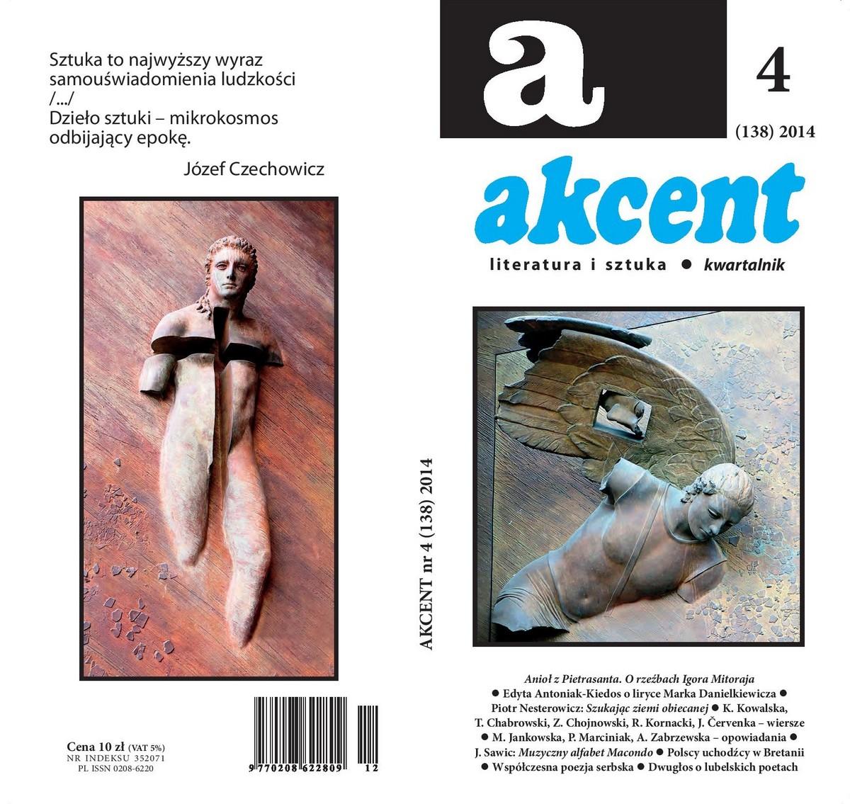 """Kwartalnik """"Akcent"""", nr 4, 2014 – okładka (źródło: materiały prasowe)"""