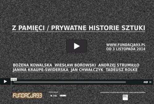 Z Pamięci / Prywatne Historie Sztuki (źródło: materiał prasowe organizatora)