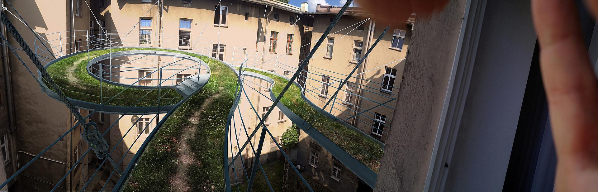 Balkon Walk-on wg projektu ZALEWSKI ARCHITECTURE GROUP (źródło: materiały prasowe organizatora)